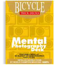 Mental Photo Deck Bicycle (Red) - Trick
