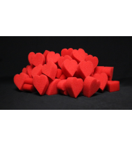 Ultra Soft Red Hearts Bag of 04 by Magic By Gosh