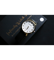 Infinity Watch V2 - Gold Case White Dial Version (Gimmick and Online Instructions) by Bluether Magic