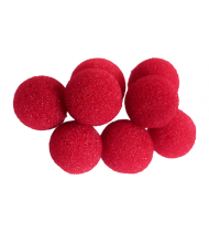 Mini Super Soft Sponge Ball (Red) Bag of 8 from Magic by Gosh