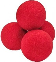 2 inch Super Soft Sponge Ball (Red) Bag of 04 from Magic by Gosh